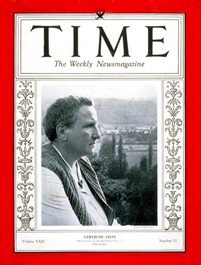 Tuesday Poem- Gertrude Stein