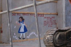 One pill Mt Cook grafitto
